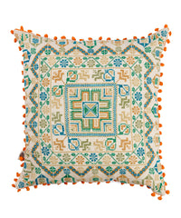 Patterns and Pompoms Pillow Case