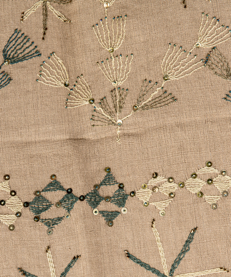South Sinai Shawl Embroidery on Linen
