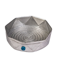 Metal Bowl with Triangles