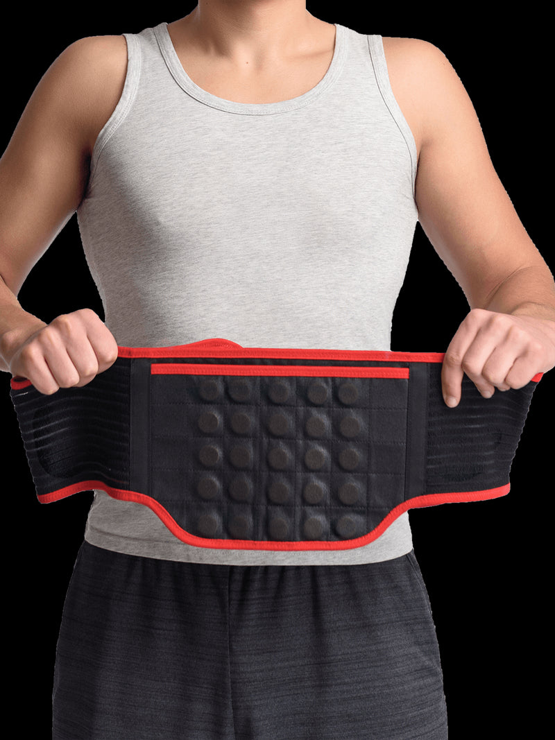 MAXAR Bio-Magnetic Back Support Belt - Deluxe Far Infrared with Cera Heat Fabric