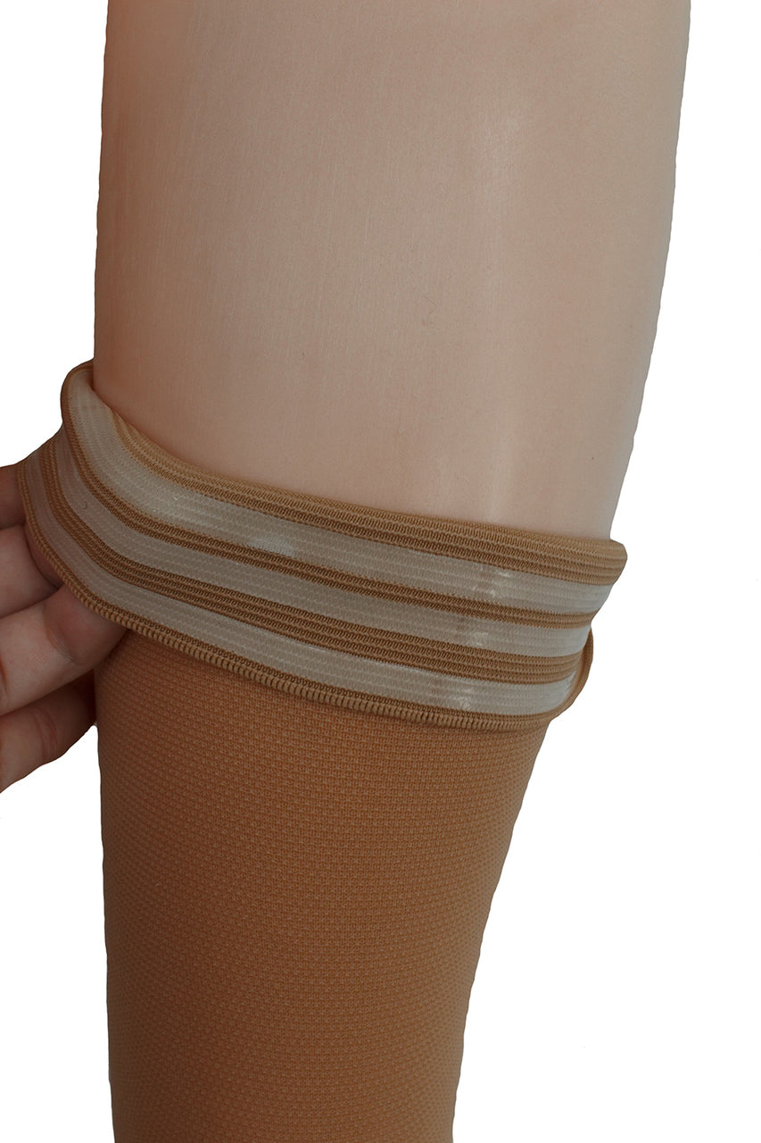 Open Toe H-2020 ITA-MED Thigh Highs Strong Compression 25-30 mmHg