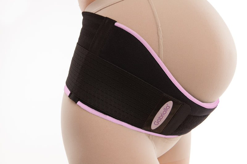 "GABRIALLA Deluxe Breathable Maternity Belt - Medium Support, 6"" Wide"