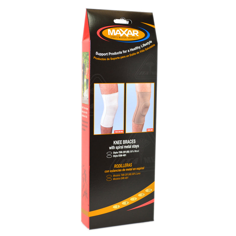 MAXAR Elastic Knee Brace with Donut-Shaped Silicone Ring and Metal Stays