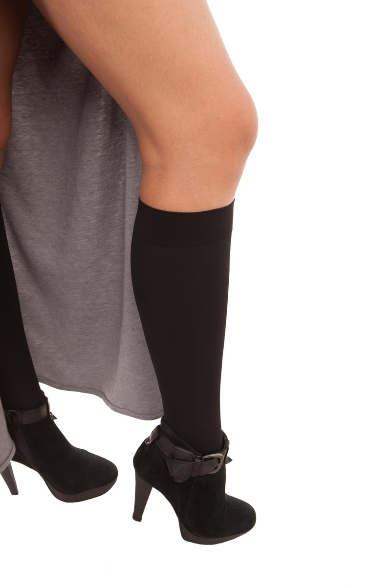 GABRIALLA Microfiber Knee Highs - Extra Firm Compression (25-35 mmHg)