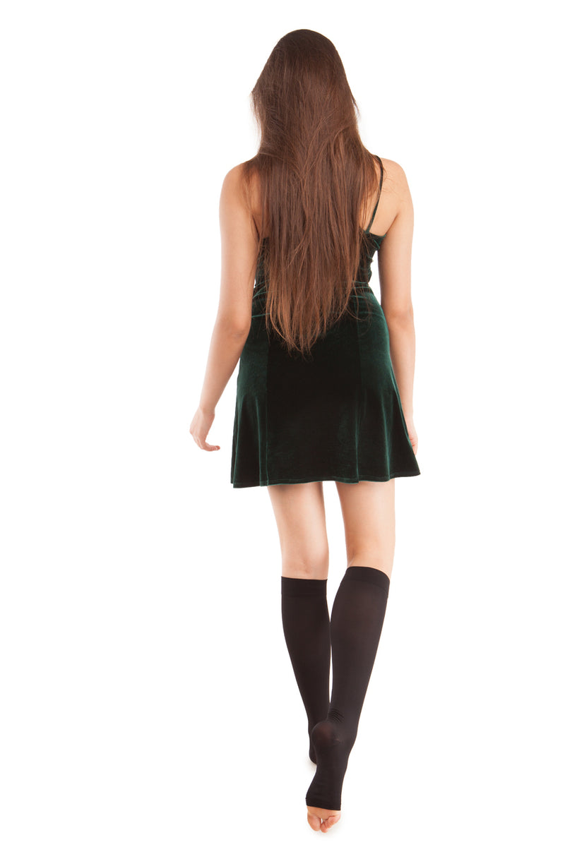 GABRIALLA Open Toe Knee Highs - Extra Firm Compression (25-35 mmHg)
