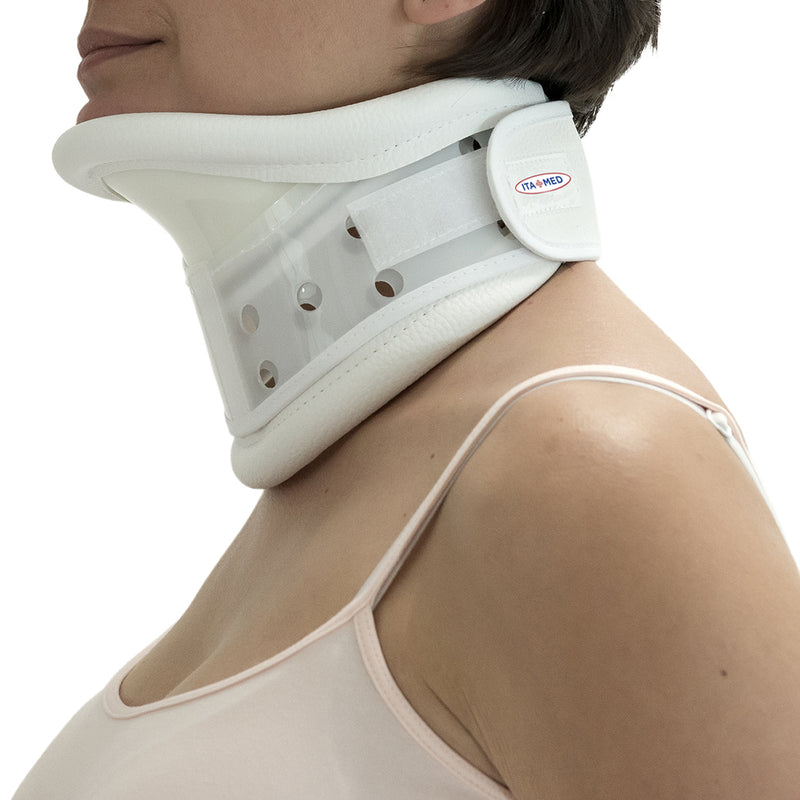 ITA-MED Rigid Plastic Cervical Collar with Chin Support