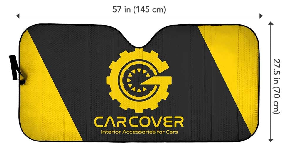 Car Front Sun Shade Size Chart - Gearcarcovers