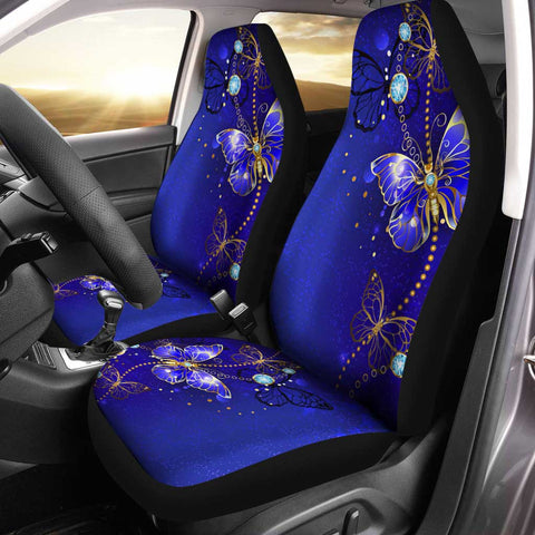 Butterfly Car Seat Covers Custom Blue Car Accessories Car Accessories