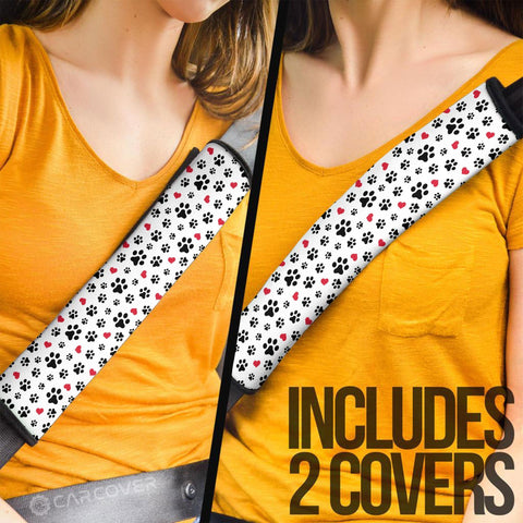 Dog Paw Seat Belt Covers Cute Car Interior Accessories