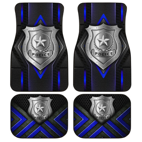 Police Car Floor Mats Custom Car Accessories Gifts For Police