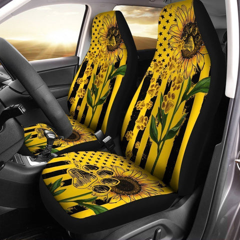 Sunflower Paws Car Seat Covers Custom Car Accessories For Dog Lovers
