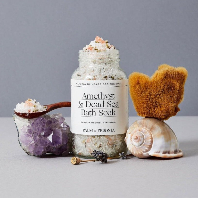 Palm of Feronia Amethyst and Dead Sea Bath Soak