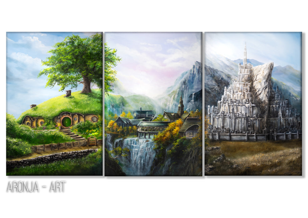 Middle Earth Triptych (Print)