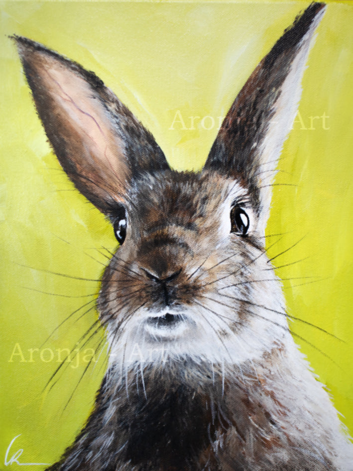 Rabbit Portrait - Acrylicpainting