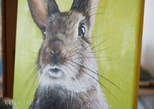 Load image into Gallery viewer, Rabbit Portrait - Acrylicpainting