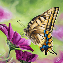 Load image into Gallery viewer, Swallowtail - Acrylicpainting (30x30cm)