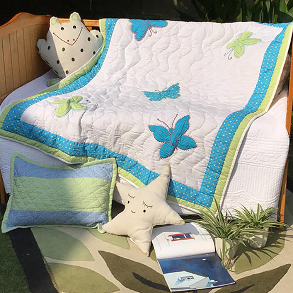 BLUE BUTTERFLY KIDS QUILT