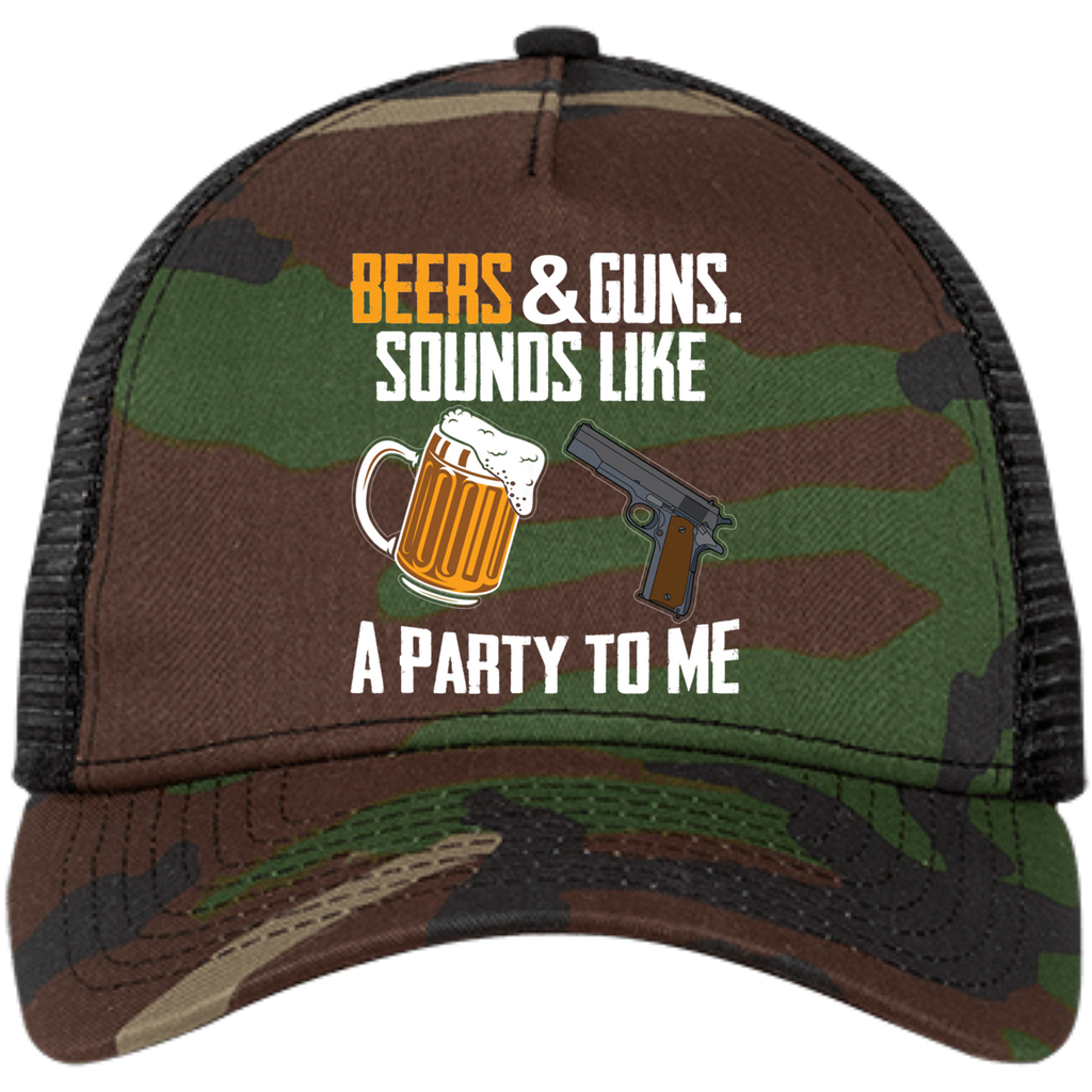 Beers & guns Sounds Like a Party to Me Snapback Trucker Cap