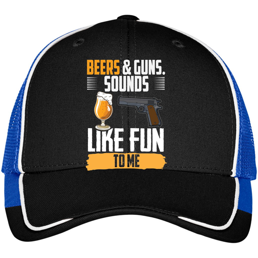 Beers & Guns Sounds Like Fun To Me Mesh Back Cap