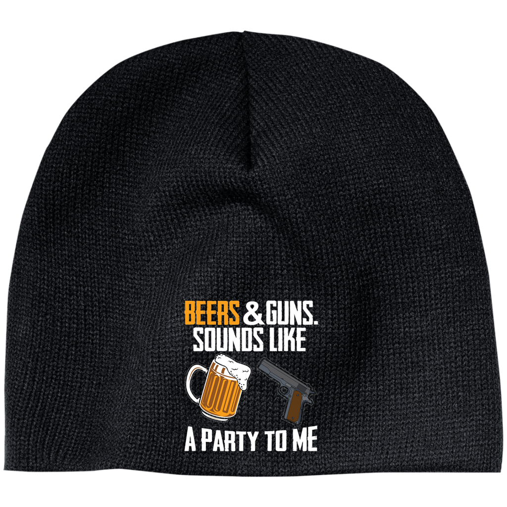 Beers & guns Sounds Like a party to Me Beanie