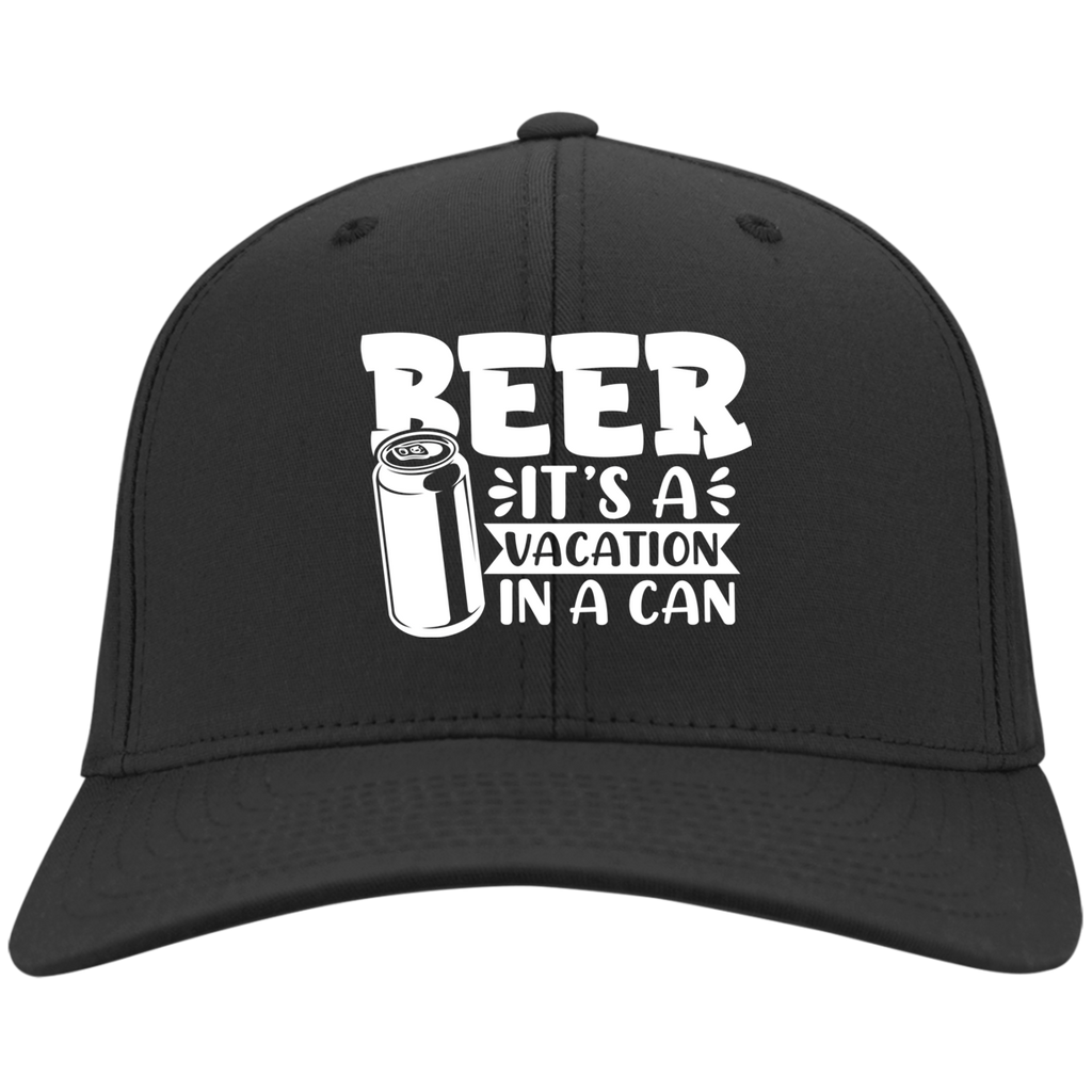 Beer It's a Vacation In a Can Flexifit Cap