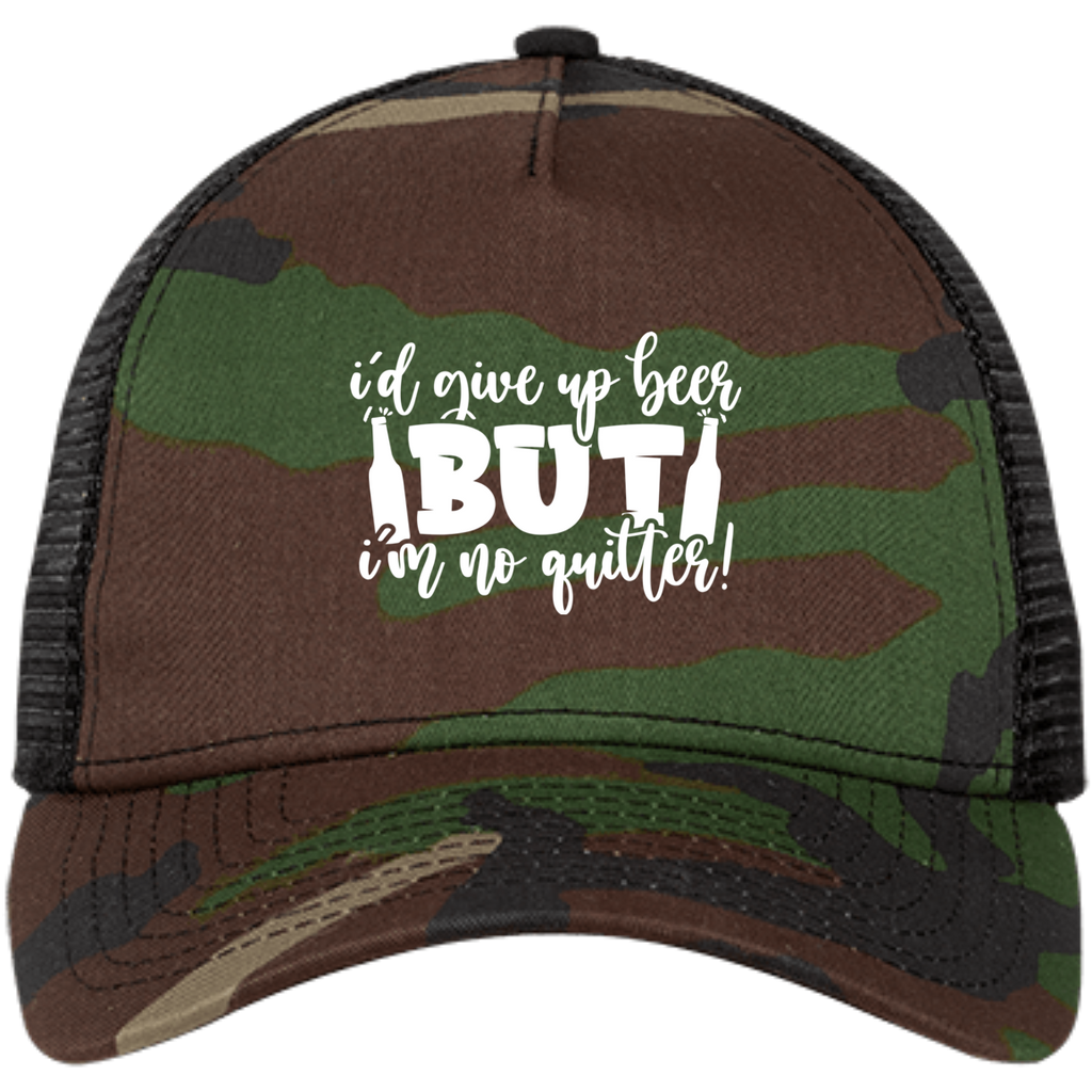 I'd Give Up Beer But I'm Not a Quiter Snapback Trucker Cap