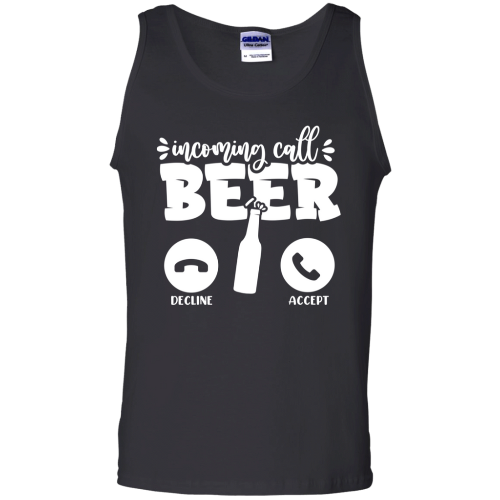 Incoming Call From Beer Tank Top
