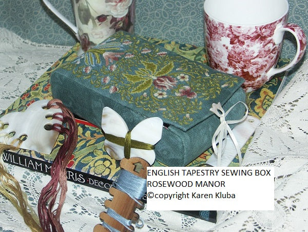 ENGLISH TAPESTRY SEWING BOX