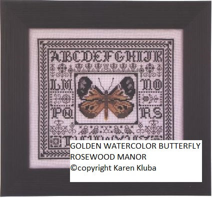 GOLDEN WATER COLOR BUTTERFLY