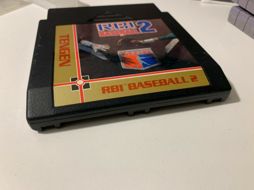 RBI Baseball 2 ORIGINAL Nintendo NES Game Tested + Working & Authentic!