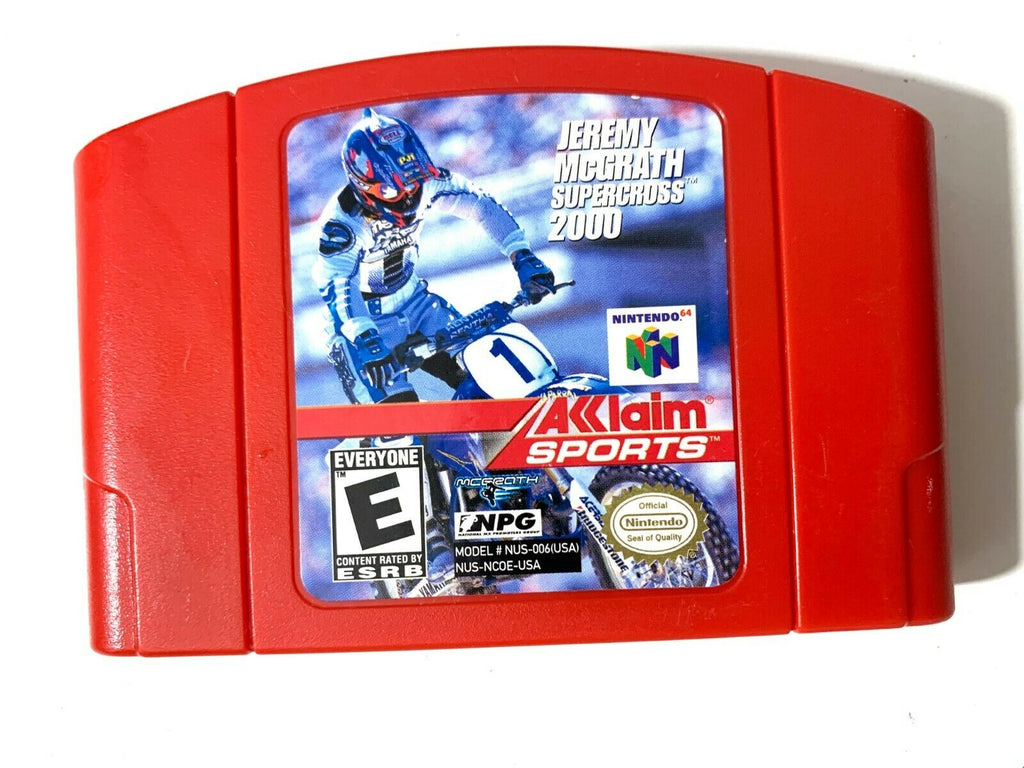 Jeremy Mcgrath Supercross 2000 NINTENDO 64 N64 Game Tested + Working