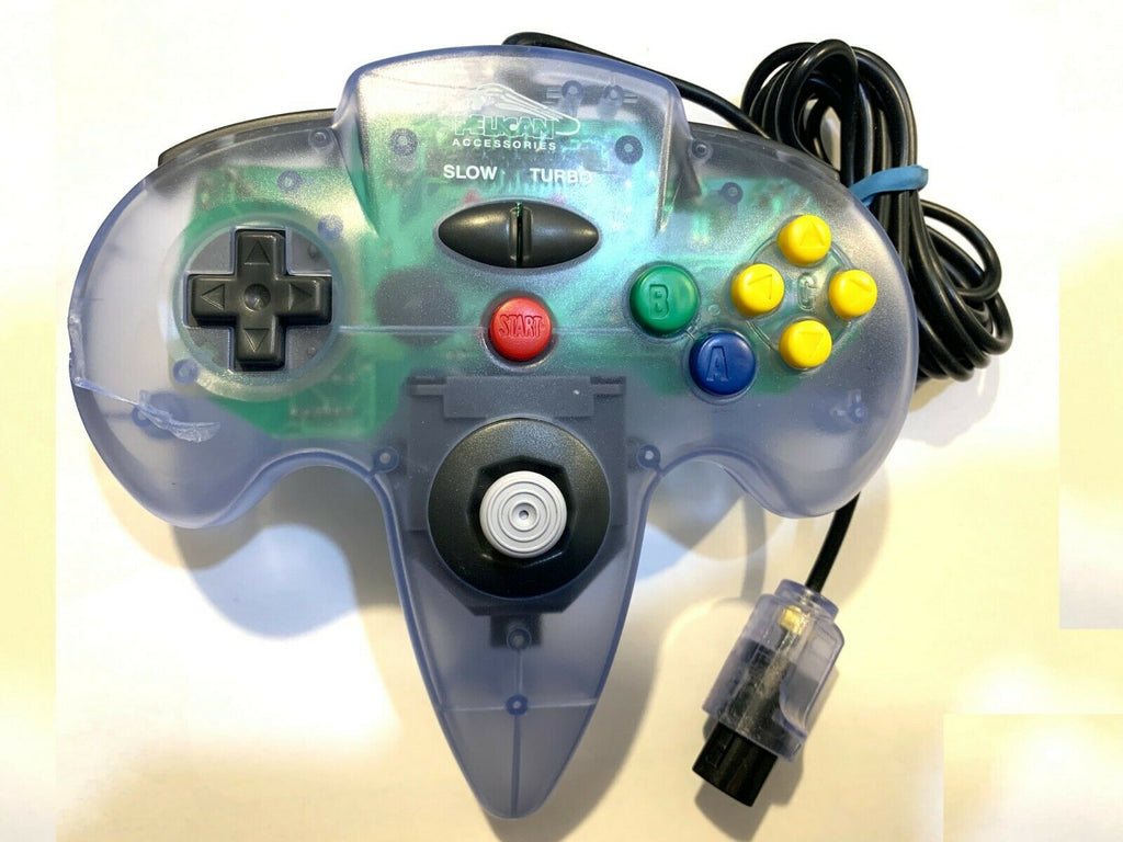 NINTENDO 64 PELICAN ACCESSORIES VIDEO GAME CONTROLLER (140014304) Clear