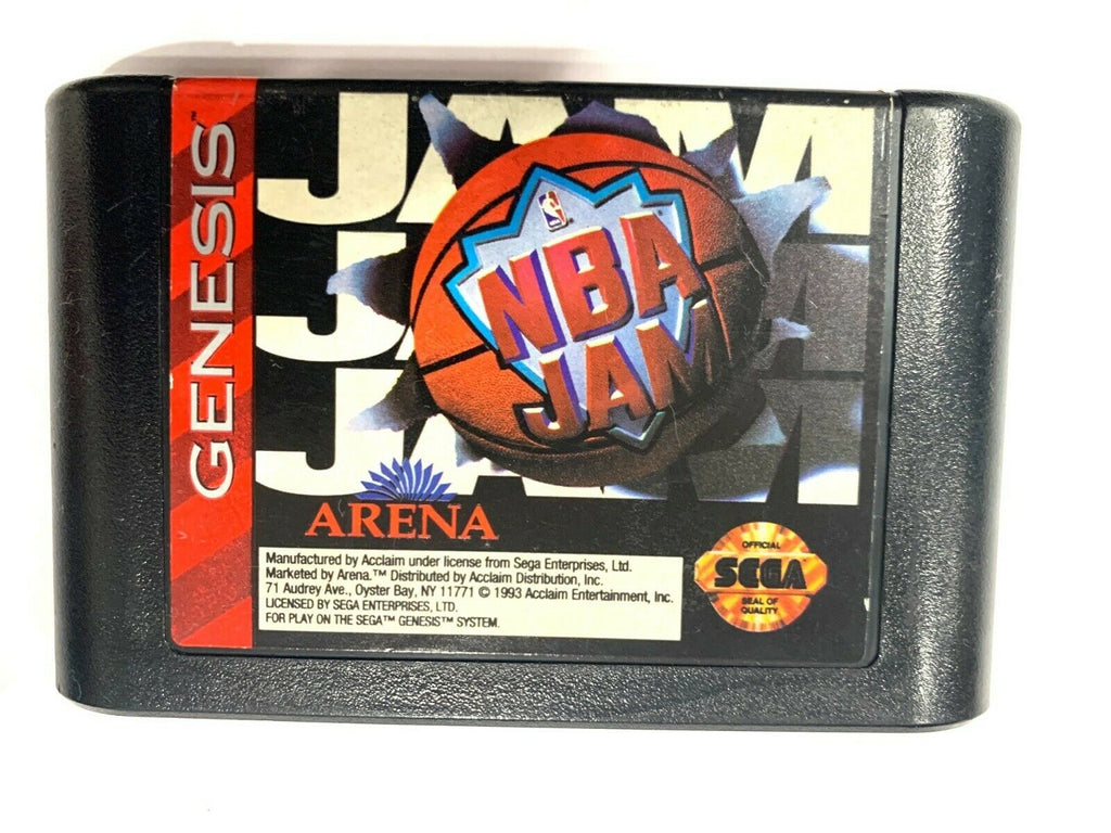 NBA Jam SEGA GENESIS GAME CARTRIDGE Tested + Working & Authentic!