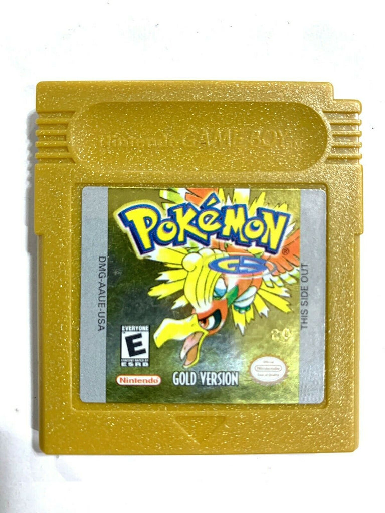 AUTHENTIC Pokemon Gold Version Nintendo Game Boy Color w/ New Save Battery!