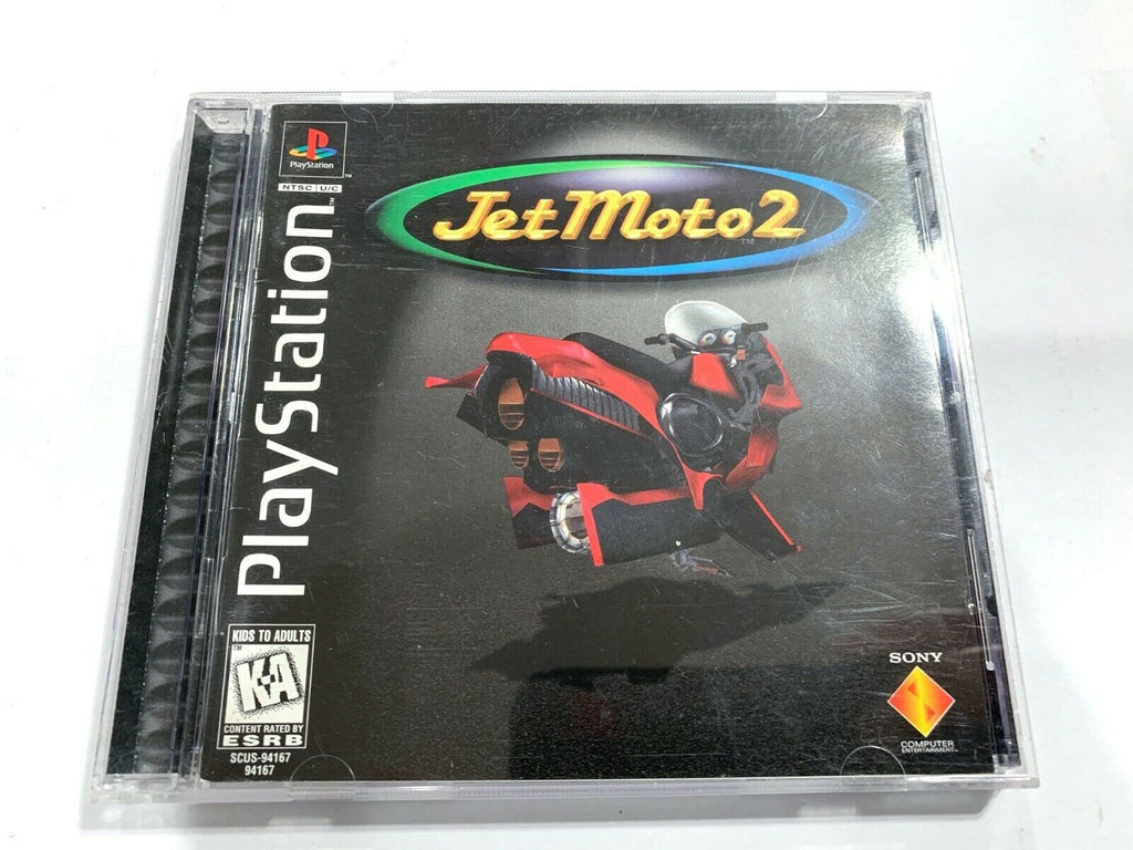 Jet Moto 2 SONY PLAYSTATION 1 PS1 Game COMPLETE CIB Tested + Working