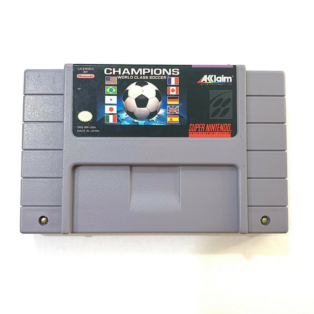 Champions World Class Soccer SUPER NINTENDO SNES Game - Tested - Working!