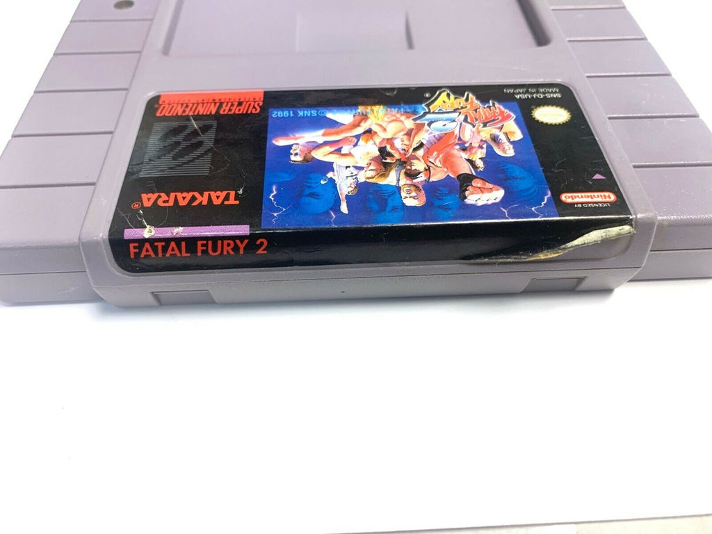 Fatal Fury 2 - SNES Super Nintendo Game Tested + Working & Authentic!