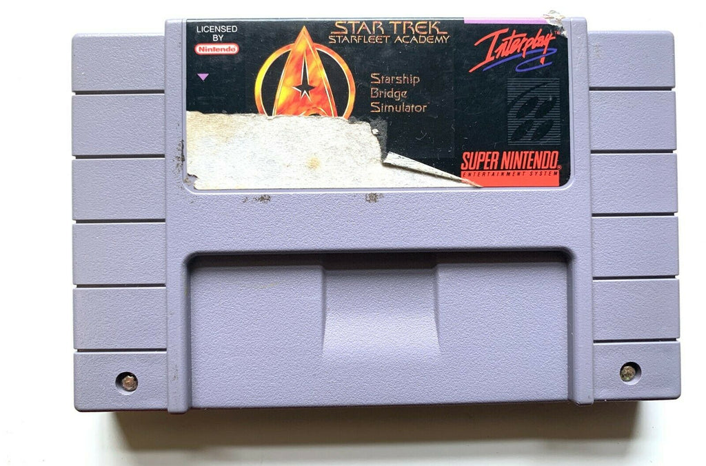 Star Trek Starfleet Academy - SNES Super Nintendo Game Tested+Working+ Authentic