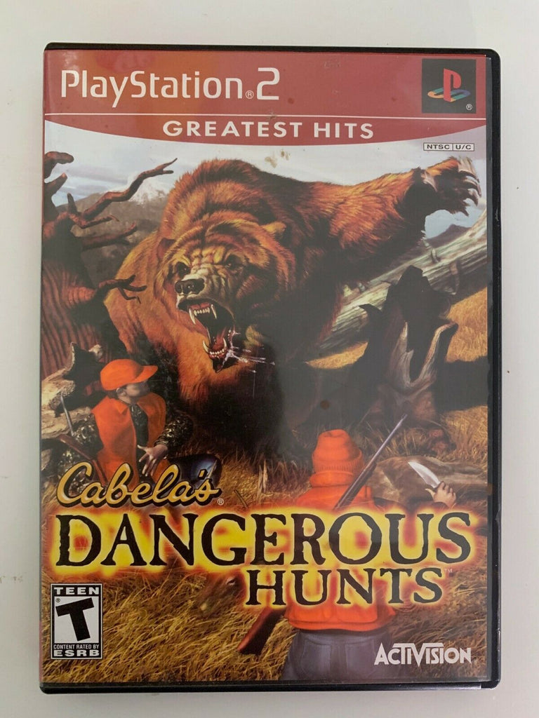 Cabelas Dangerous Hunts Sony Playstation 2 PS2 Game TESTED + WORKING!