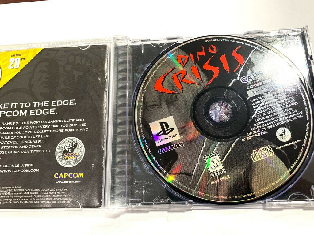 Dino Crisis Playstation 1 PS1 Complete CIB Tested + Working!