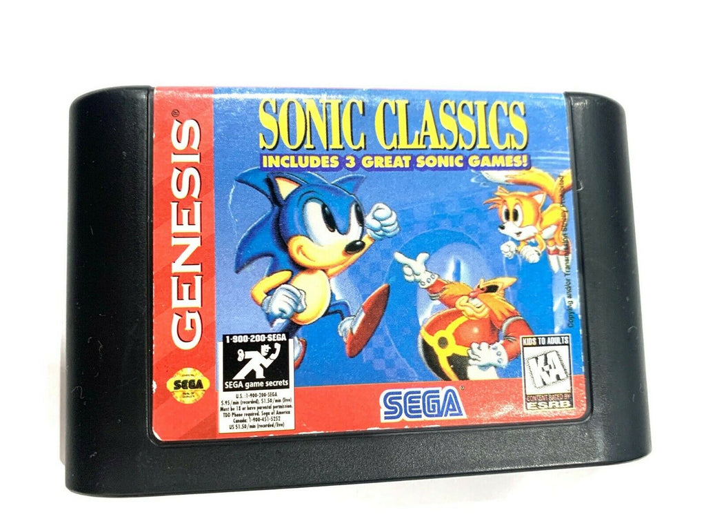 Sonic Classics SEGA GENESIS GAME CARTRIDGE Tested + WORKING Authentic!