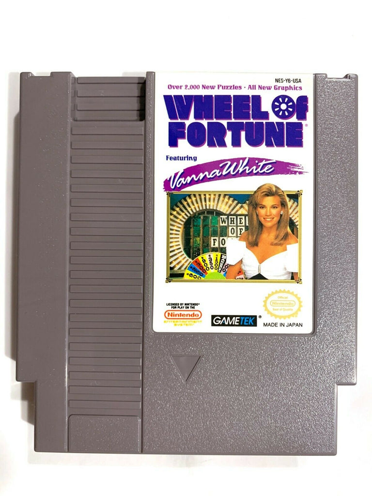 Wheel of Fortune Featuring Vanna White ORIGINAL NINTENDO NES GAME Tested Working