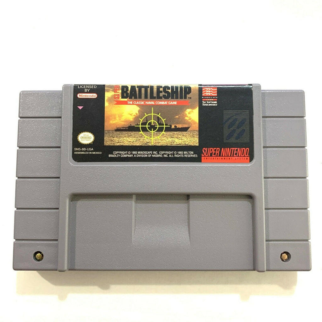 Super Battleship Super Nintendo SNES Game - Tested - Working!