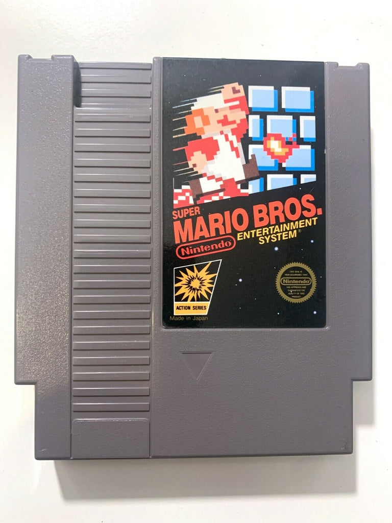 Super Mario Bros ORIGINAL NES NINTENDO GAME Action Series Tested + Working!
