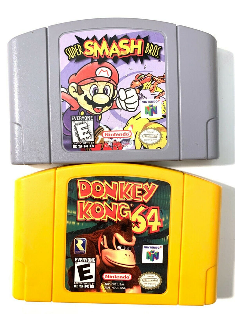 Nintendo 64 Authentic N64 Game Lot - Super Smash Bros & Donkey Kong 64 TESTED!