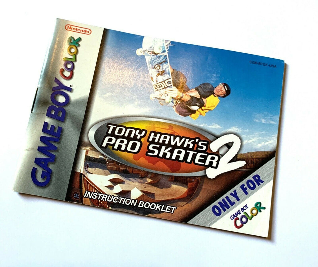 Tony Hawks Pro Skater 2 Nintendo Game Boy Color 2000 Instruction Manual Booklet