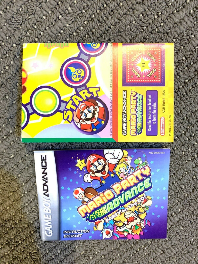 Mario Party Advance GAMEBOY ADVANCE GBA Instruction Manual & Poster Booklet Book