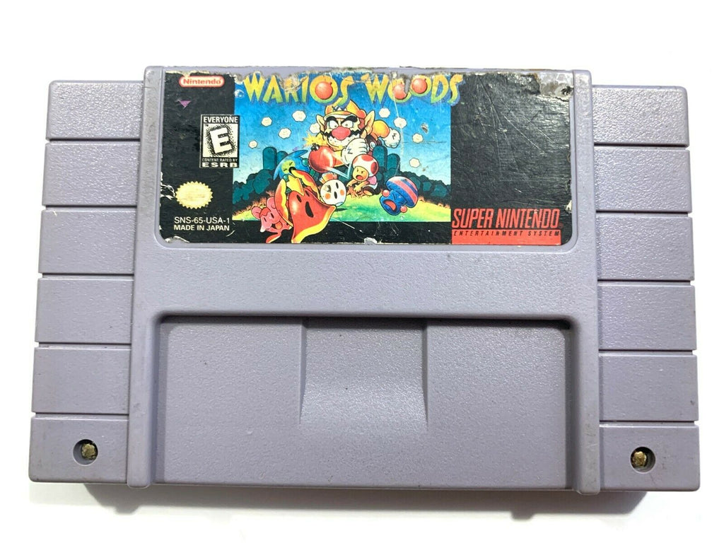 ****Wario's Woods (Super Nintendo Entertainment System, 1994) - Game TESTED!****