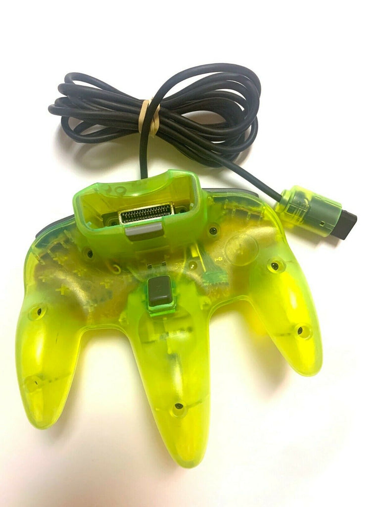 Official Genuine Nintendo 64 N64 Extreme Green Neon Controller OEM Good Joystick