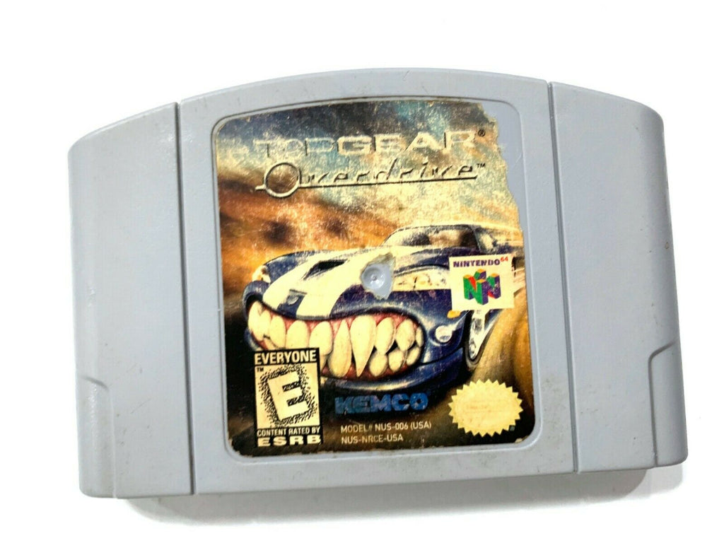 Top Gear Overdrive Nintendo 64 N64 Game Tested + Working & Authentic!